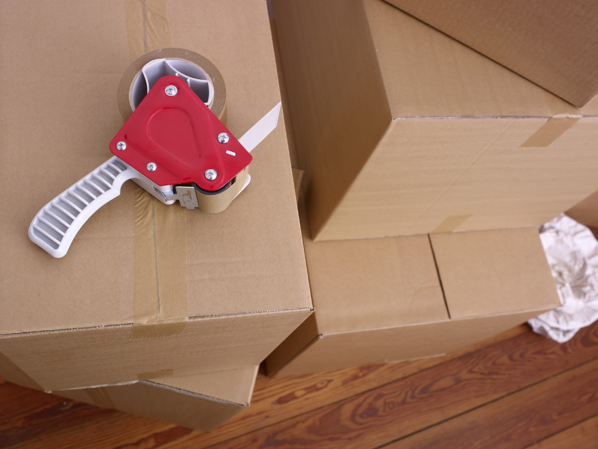 Long distance moving Company boxes image