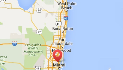 Miami to West Palm beach south west movers map image