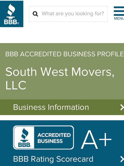 Licensed & Insured   Southwest Movers