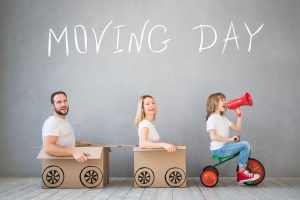 Family fun with moving day