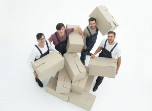 Group of delivery workers